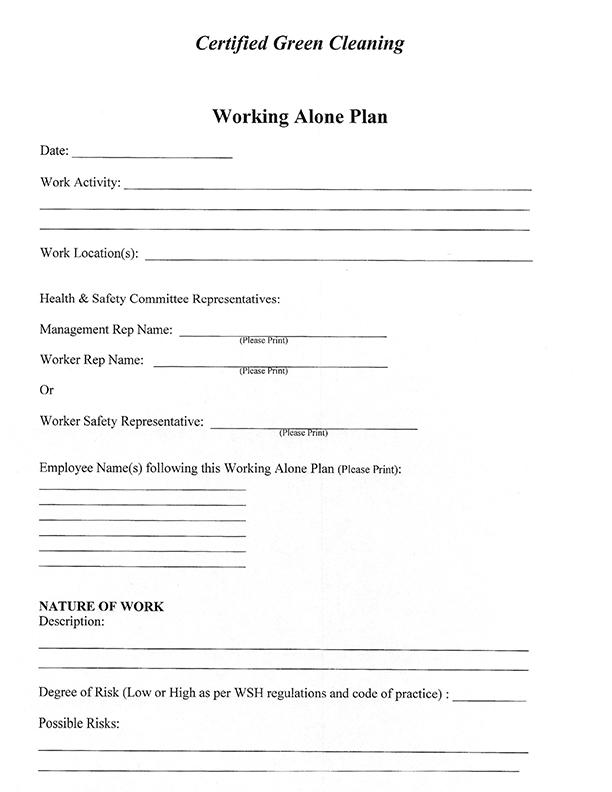 Work Alone Plan