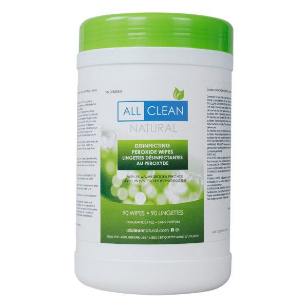 All Clean Natural Disinfecting Peroxide Wipes