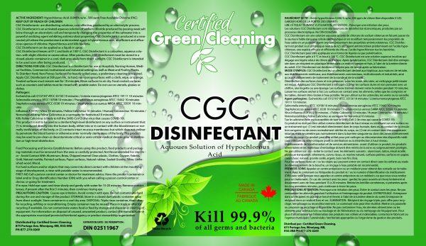 CGC Disinfectant Label